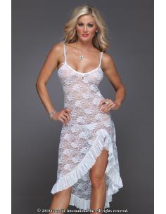 Robe longue dentelle blanche Mariette-coquette-06.Prêt à porter
