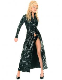 Veste longue noir pvc -Honour-vinyle