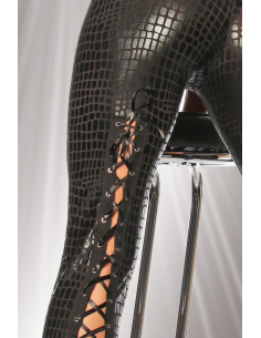 Leggings Wetlook 18035 kroko/Noir SARESIA - 1