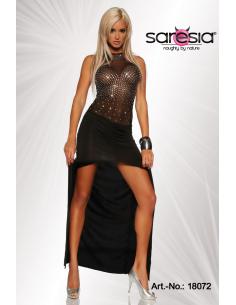 Robe longue transparente  18072 Noir
