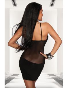 Robe courte transparente 18076 Noir