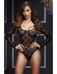 Body Lacy Back Cutout Noir