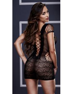 Robe résille façon corset noir