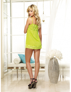 Nuisette babydoll Lime