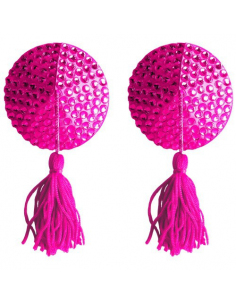 ROUND NIPPLE TASSELS OUCH! NIPPLE COVERS PINK - ONE SIZE
