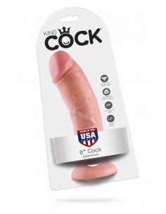 Gode réaliste à ventouse King Cock chair - 21 cm