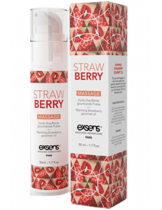 Massage hot gourmant strawb 50ml