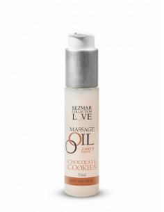 Huile de massage comestible parfum Cookie Chocolat