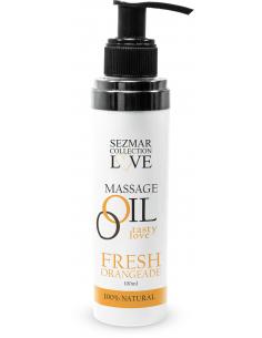 Huile de massage comestible parfum Fresh Orangeade