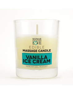 Bougie de massage parfum Vanille Ice Cream - 100 ml