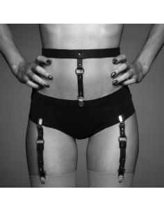 Maze Suspender Belt Black