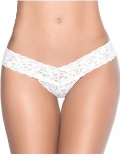 String blanc sexy dentelle