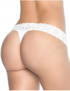 String sexy blanc avec dentelle 6626