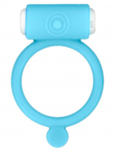 Cockring phosphorescent bleu vibrant avec stimulation du clitoris 6729