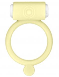 Cockring phosphorescent jaune vibrant avec stimulation du clitoris 6730