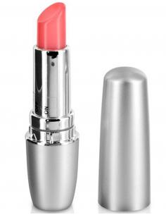 Rouge à lèvres argenté stimulateur vibrant