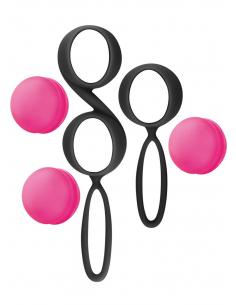 Set de boules de Geisha noires roses à billes amovibles 7119