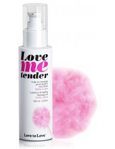 Huile de massage Love Me tender saveur Barbe à Papa - 100 ml