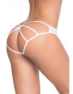 Culotte ouverte blanche cage