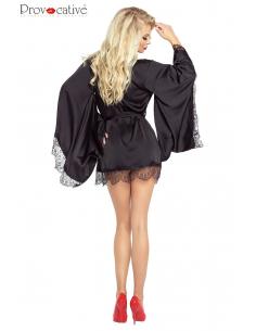 Le Petit Satin Kimono Noir