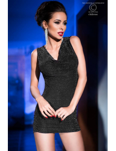 Mini dress CR4238 noir et argent