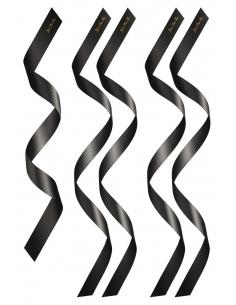 Set de 5 bandeaux satinés noirs chevilles poignets et yeux