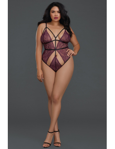 Body string grande taille dentelle extensible