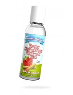 Lubrifiant V&M Saveur Fraise Rhubarbe - 50 ml - 100%Vegan