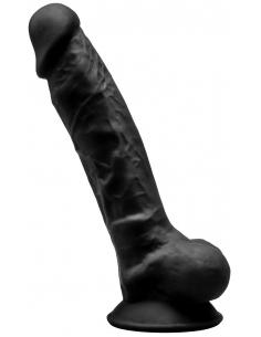 """Gode Réaliste N° 1 - 17,5 cm 7"""" Noir Double Densité"""