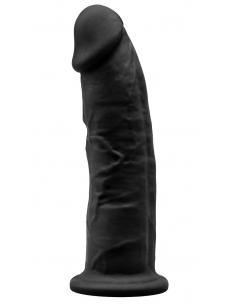 Gode Réaliste Noir Double Densité N° 2 - 15 cm