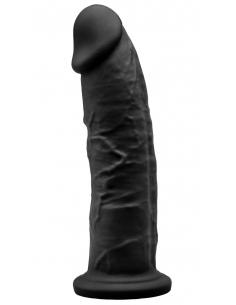 Gode Réaliste Noir Double Densité N° 2 - 19 cm