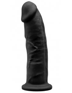 Gode Réaliste Noir Double Densité N° 2 - 23 cm