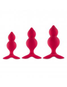 Bibi Twin Butt Plug Set 3 pcs Pink