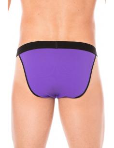 Slip violet échancré avec zip