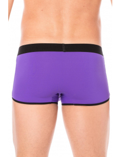 Mini-Pant Violet échancré avec zip