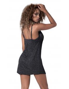 Mini robe pailletée avec un design drapé - MAL4540GRY