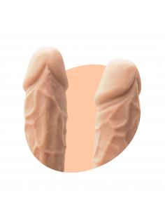 "Gode Réaliste testicules 8,5"" VANILLA"
