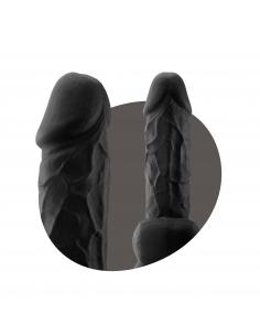 """Gode Réaliste testicules 8,5"""" Black"""