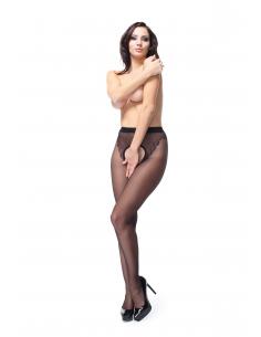 MI P211 pantyhose open crotch black 20den