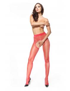 MI P211 pantyhose open crotch red 20den