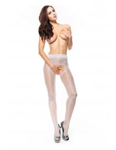 MI P211 pantyhose open crotch silver 20den