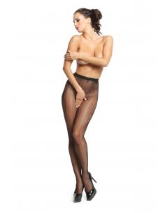 MI P615 pantyhose open crotch fishnet black 20den