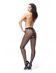 MI P102 pantyhose open crotch black 40den