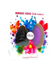 Oeuf vibrant MagicEGG 3.0 10 vitesses Violet avec télécommande