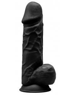 Gode Réaliste N° 4 - 21,5 cm Noir Double Densité