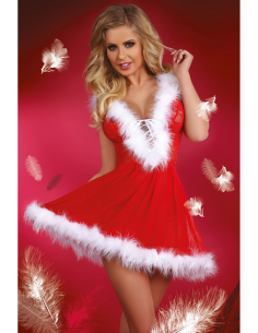 Costume Snowflake babydoll red
