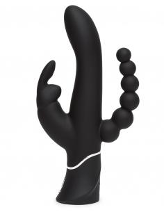 TRIPLE CURVE RABBIT vibrant noir