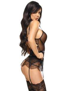 Imani corset & string noir
