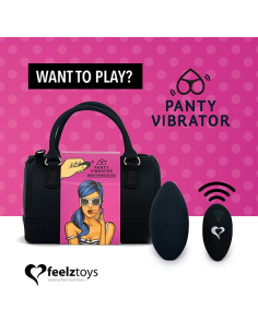 FeelzToys - Panty Vibe Remote Controlled Vibrator Black