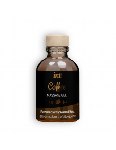 Gel de Massage Embrassable Chauffant café 30 ml